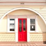 Front Red Door